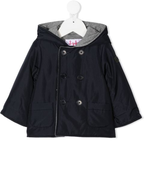 Il Gufo double-breasted lined coat