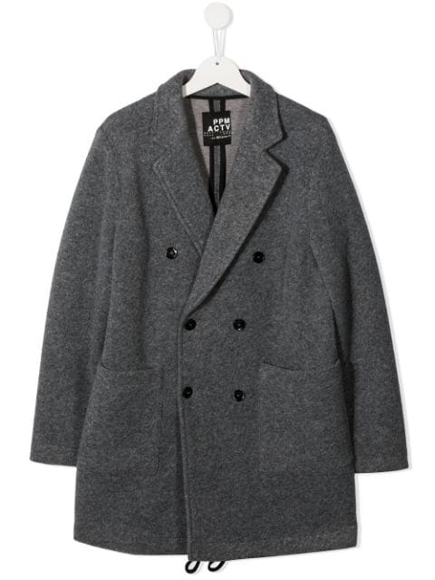 Paolo Pecora Kids TEEN double-breasted wool coat