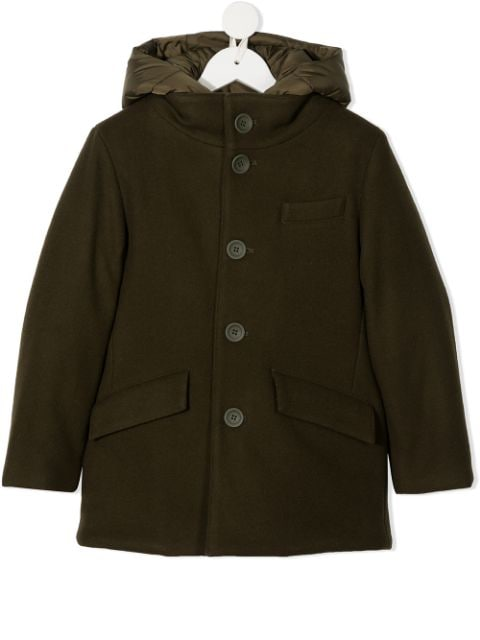 Herno Kids button-down hooded coat