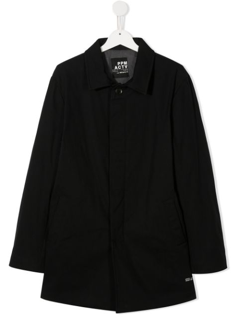 Paolo Pecora Kids TEEN single-breasted trench coat