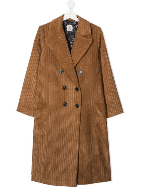 Caffe' D'orzo TEEN double breasted corduroy coat