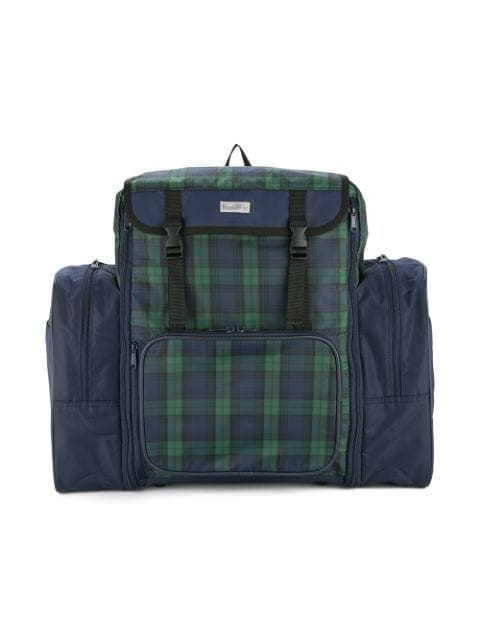 Familiar checked panel backpack