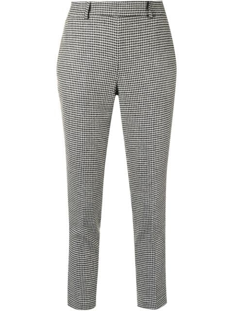 Twin-Set houndstooth tapered trousers
