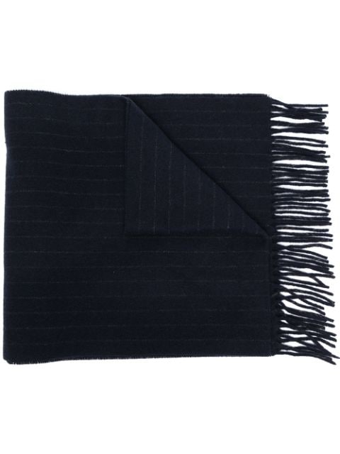 Polo Ralph Lauren stripe knit bear embroidered scarf