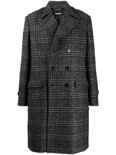 Dolce & Gabbana checked double-breasted coat