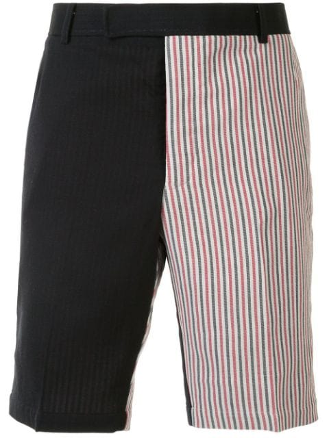 Thom Browne NAVY DOUBLE FACE STIFF CREPE CHINO SHORT