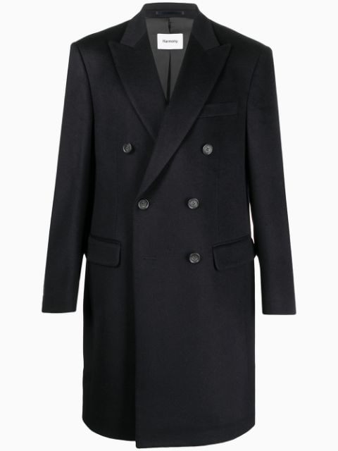 Harmony Paris cashmere-wool blend double-breasted coat