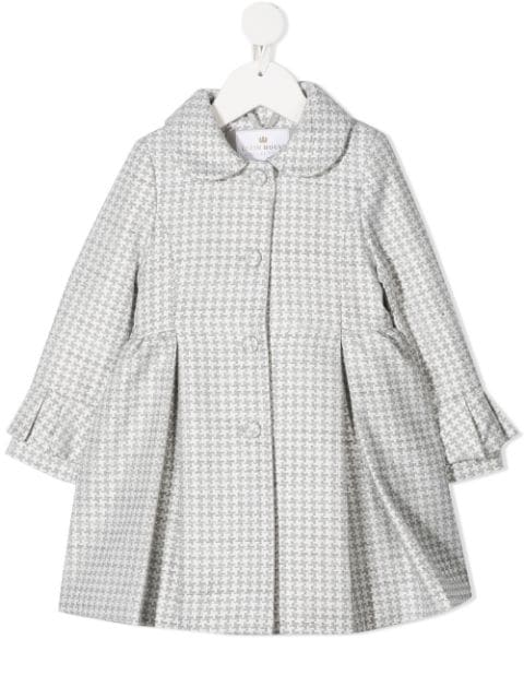 Lapin House houndstooth single breasted coat