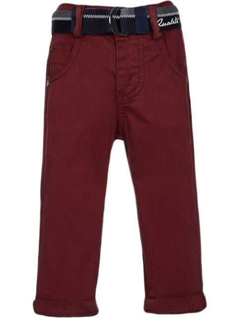 Lapin House belted cotton chino trousers