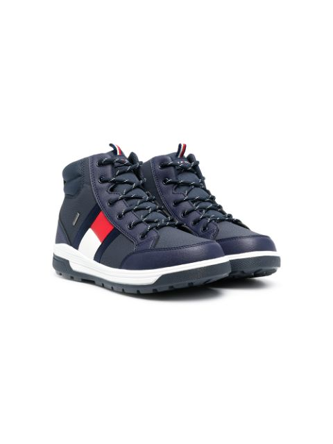 Tommy Hilfiger Junior TEEN lace-up leather boots
