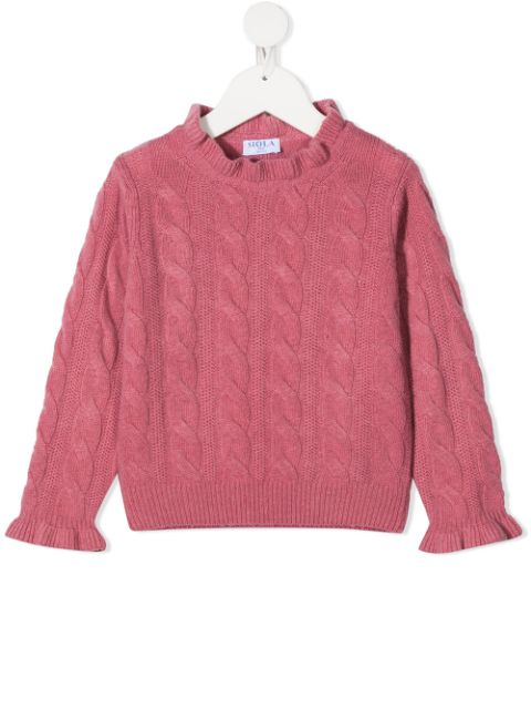 Siola cable-knit jumper
