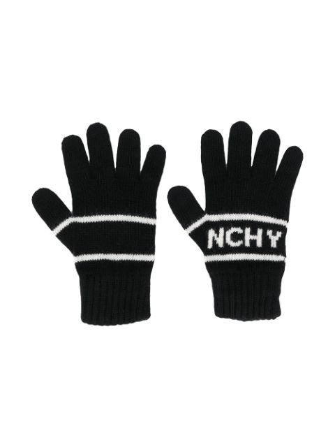 Givenchy Kids logo embroidered gloves