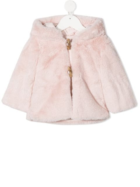 Lapin House hooded faux-fur jacket