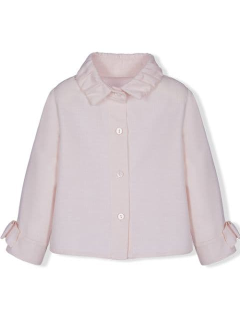 Lapin House bow detail long-sleeved shirt