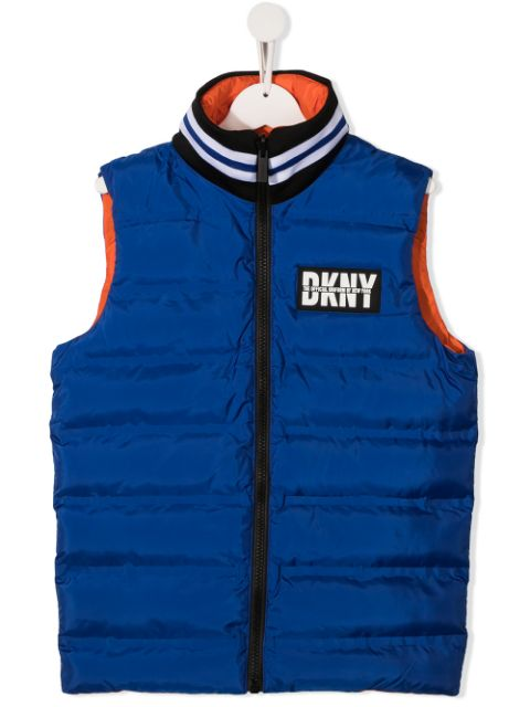 Dkny Kids TEEN reversible quilted gilet