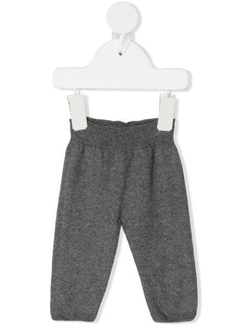 Knot ribbed waist trousers