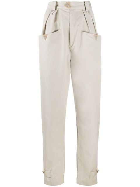 Isabel Marant Étoile high-waisted tapered cotton trousers