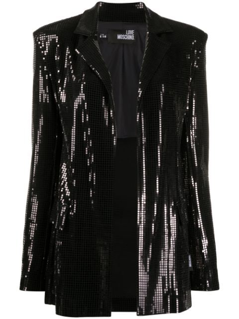 Love Moschino open front embellished blazer
