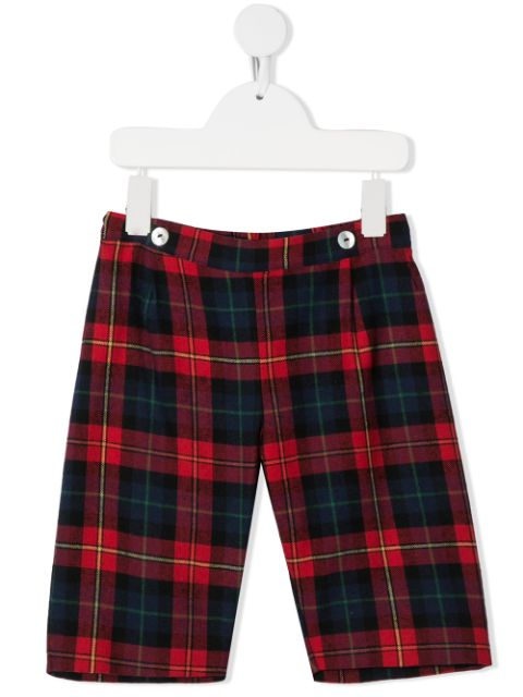 Siola check pattern pull-on shorts
