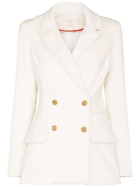 By Any Other Name Lady double-breasted corduroy blazer