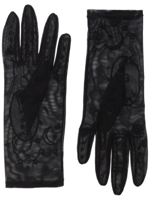 Tender and Dangerous embroidered sheer gloves