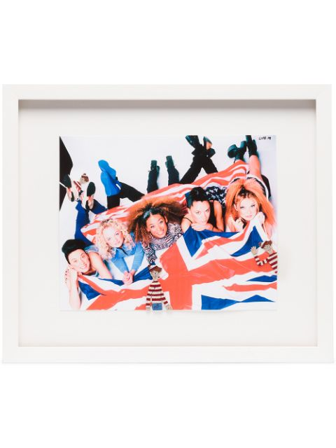 Browns X The Dan Life The Spice Girls embellished wall print (35cm x 41cm)