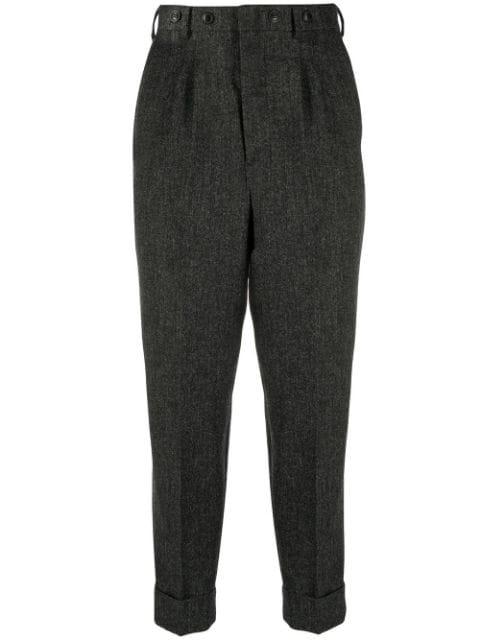 AMI tapered cropped trousers