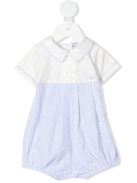 Emporio Armani Kids contrast detailing double-breasted shorties