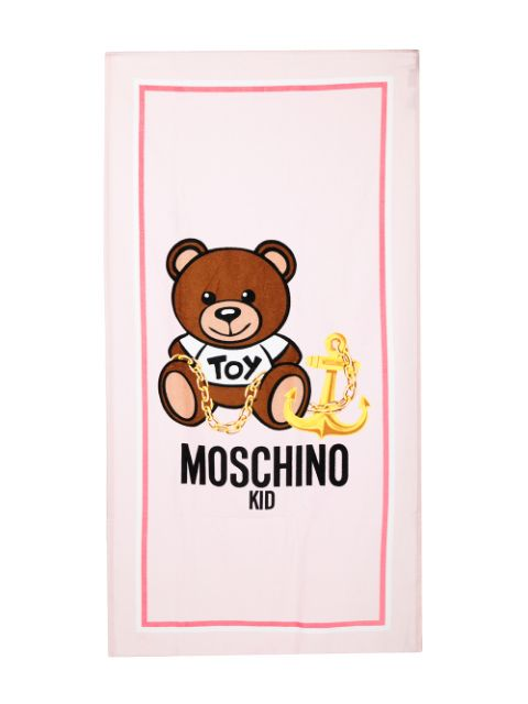 Moschino Kids Teddy Anchor graphic print towel