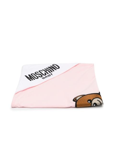 Moschino Kids embroidered Teddy blanket