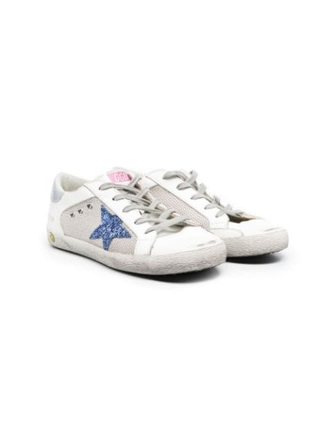 Golden Goose Kids TEEN star-patch lace-up trainers