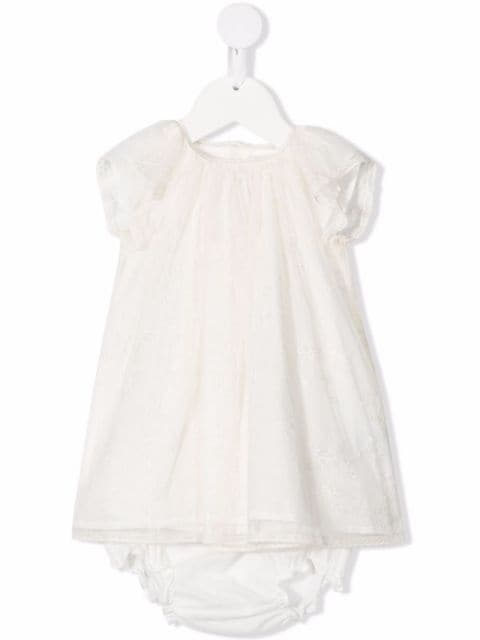 Bonpoint lace dress and bloomer set