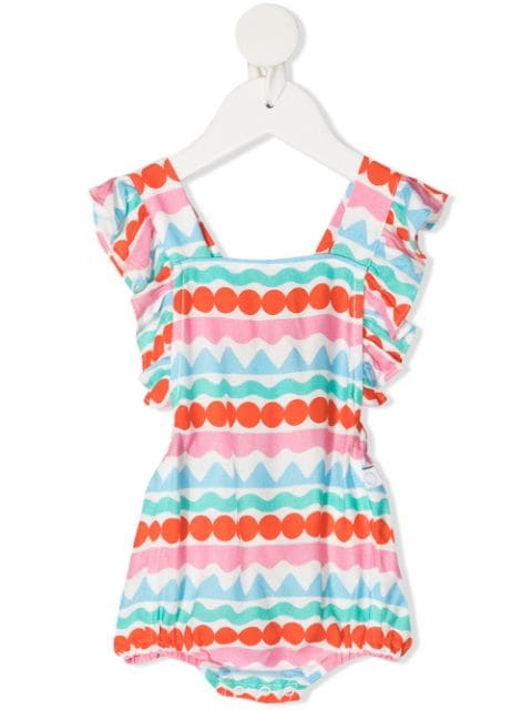 Stella McCartney Kids graphic striped all-in-one