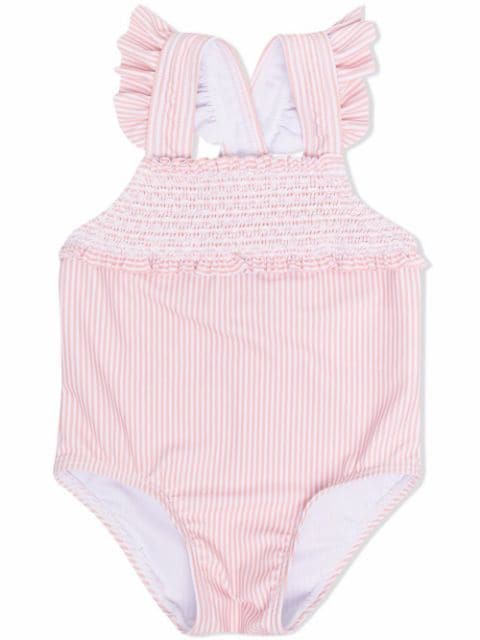 Tartine Et Chocolat embroidered striped swimsuit