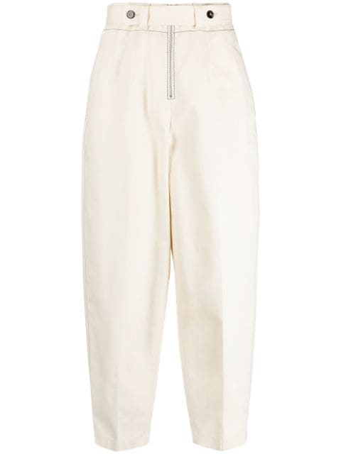 Jil Sander tapered-leg belted trousers