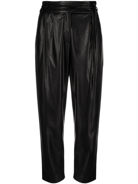 Pinko faux leather tapered trousers