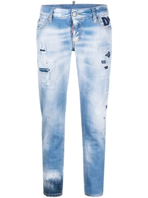 Dsquared2 ripped cropped jeans