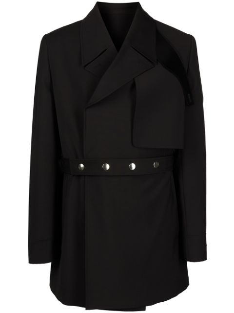 1017 ALYX 9SM belted wrap-front coat