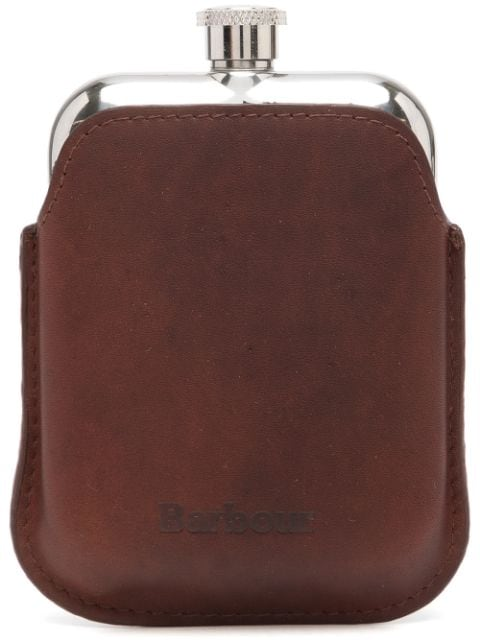 Barbour wax leather hip flask