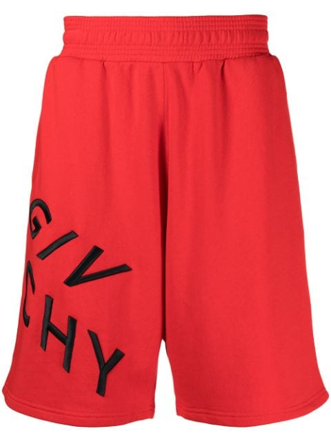 Givenchy embroidered-logo track shorts