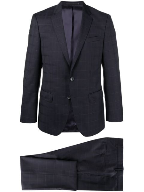 BOSS checked single-breasted suit