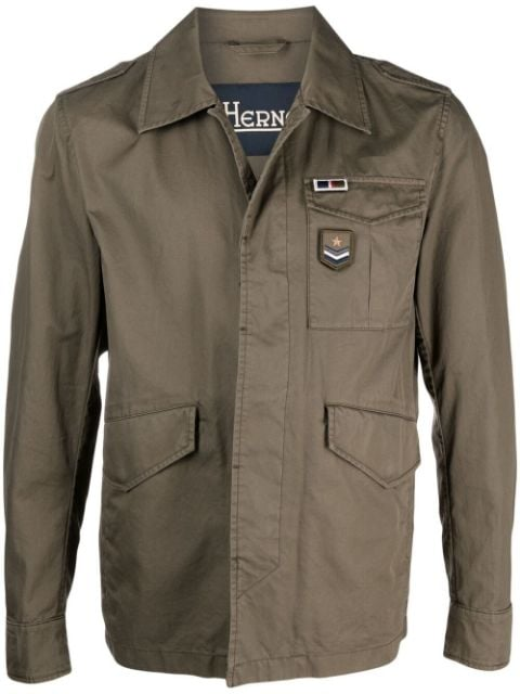 Herno patch detail military jacket