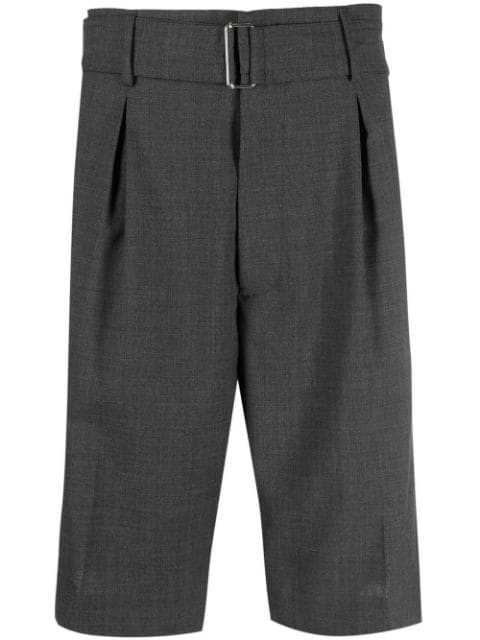 Nº21 belted-waist tailored shorts
