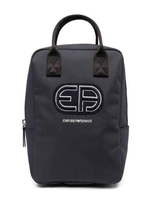 Emporio Armani Kids embroidered logo backpack
