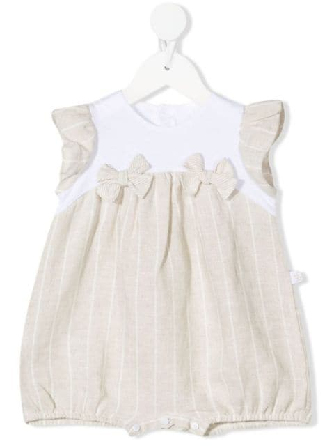 Il Gufo bow-detailed striped shorties