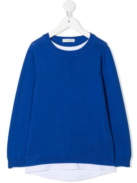 Paolo Pecora Kids crew-neck knitted jumper