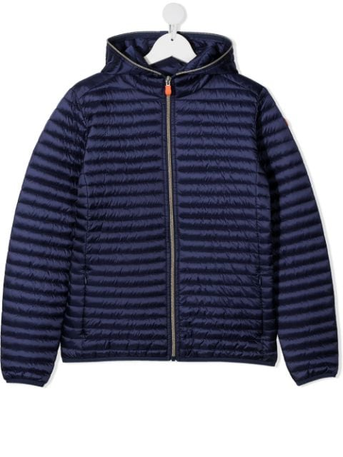 Save The Duck Kids TEEN hooded puffer jacket