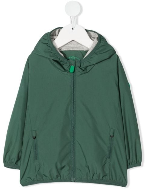 Save The Duck Kids logo-patch sleeve jacket