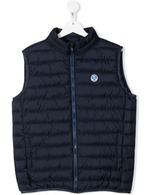 North Sails Kids TEEN recycled padded zip-up gilet