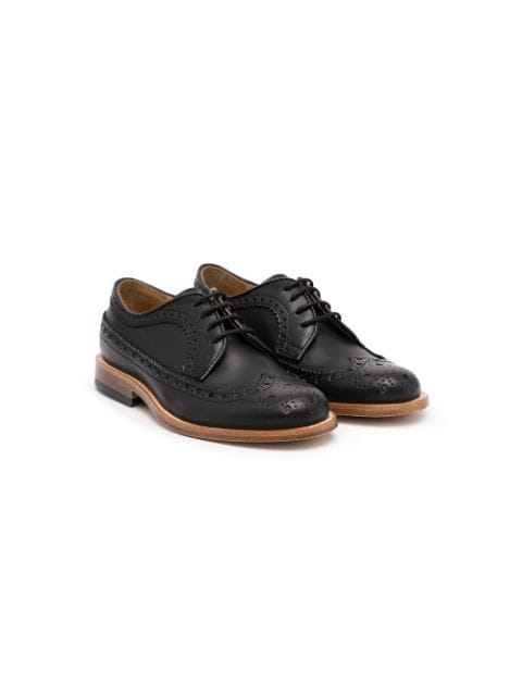 Gallucci Kids round-toe lace-up brogues